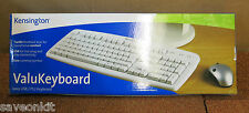 Job Lot 5 New QWERTY UK Kensington Valu Keyboard Ivory USB/PS/2 PC White Wired