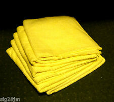 6 x 50g Microfibre Large 16'' x 16'' Very Soft Best Quality Thick Yellow Cloths