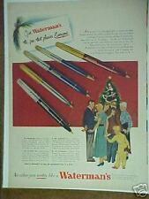 1948 Waterman's Pen & Pencil Christmas Gift print ad