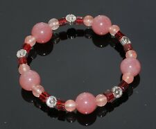 Cherry Quartz Gemstone Bead Bracelet