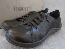 BORN Althea D11637 Womens Whiskey Metallic Leather Shoes Size US 8 M EUR 39 NWB