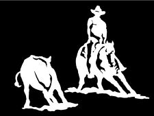 Cutting Horse Decal Rodeo Western Cowboy Car Truck Window Vinyl Graphic Sticker
