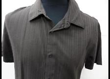 Grade A Calvin Klein Casual Shirt Collared Short Sleeve Brown Size Large LB972