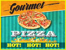 """GOURMET PIZZA 24""""x18"""" LARGE HANGING COUNTER WALL FOOD SIGNS"""