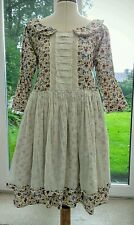 Ewa i Walla Cotton Dress Quirky Unique Romantic Girlie 3/4  Sleeve NWOT REDUCED