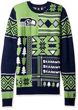 NFL Seattle Seahawks Klew Patches Ugly Sweater   size Small