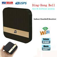 2 X Smart Wireless WiFi Doorbell Chime Ding-Dong Visual Door Bell Receiver US