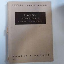 Puntuación de bolsillo Mini Haydn Sinfonía 6 G Major la sorpresa, puntuaciones de bolsillo Hawkes
