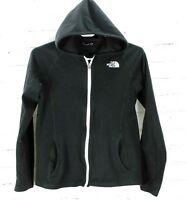 The North Face Hoodie Fleece Jacket Full Zip Girls Size L 14/16 Black Hooded