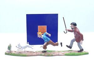 Figurine Tintin Scène Puzzle Haddock Poursuite / Pixi [Etat Neuf Certificat]