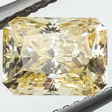 3.24 CTS 8MM VVS2 EX EX EMERALD INTENSE YELLOW LAB CERTIFIED LOOSE DIAMOND