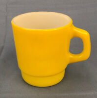 Vintage Anchor Hocking Fire King Stackable Mug Yellow Nice FAST SHIPPING