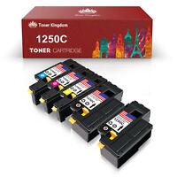 5PK 1250 Toner Cartridge Black Color Set For Dell Laser C1760nw C1765nf C1765nfw