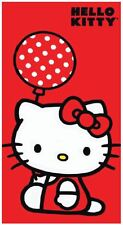 "Hello Kitty Towel Polka Dots Red Beach Pool Souvenir FULLY LICENSED!!! 30""x60"""