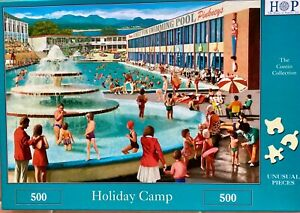 """HOP 500 piece jigsaw puzzle """"Holiday Camp"""" (complete)"""