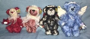 """Annette Funicello 5-6""""  Mohair Bears  - Lot Of 4"""