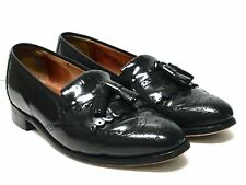 JOHNSTON & MURPHY Optima Black Leather Dress Loafers Size 9 1/2 C/A Made in USA