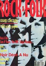 Rock & Folk #283 - NOIR DESIR- Rock à Rio : Guns N'Roses, Sugarcubes, Ramones...