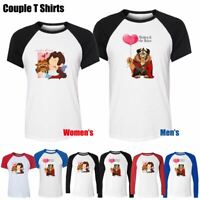 Disney Beauty and the Beast Love Couples T-Shirt Men's Women's Graphic Tee Tops