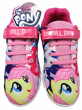 Girls My Little Pony Pink Printed Mesh Trainer Soft Touch Fastening Shoes