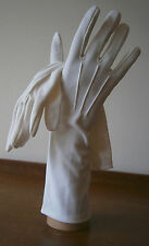 VINTAGE 1950s PINKHAM WHITE THREE QUARTER LENGTH STRECH NYLON GLOVES WEDDING