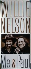 RARE WILLIE NELSON ME & PAUL 1985 VINTAGE ORIG MUSIC RECORD STORE PROMO POSTER