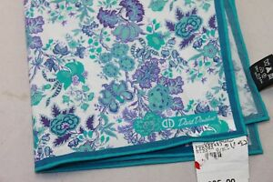 David Donahue men's Laguna Floral Pocket Square $65