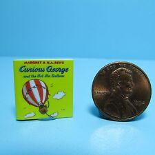 Dollhouse Miniature Replica of Book Curious George & the Hot Air Balloon ~ B029