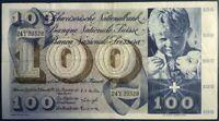 SUISSE - 100 FRANCS (1958) - Billet de banque (TB) 24Y