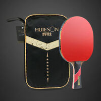 Wenge Wood Carbon Fiber Blade 6 Star Table Tennis Racket Sticky Rubber Ping Pong