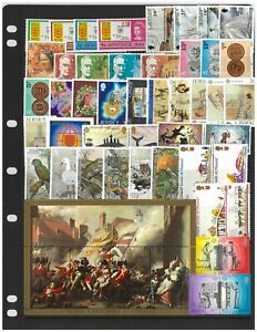 Jersey 50 Different Stamps Mostly Mint Unhinged Complete Sets in Glassine Bag