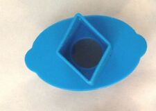"""Blue 1 1/4"""" TWO Sided Diamond Scalop Cookie Cutter Art Mold"""