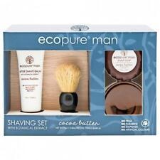ECOPURE MAN Cocoa Buttter Shaving BALM, SOAP, SHAVE BRUSH: natural botanicals