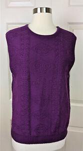 Pendleton Women's Purple virgin Wool sleeveless Sweater Vest size L