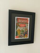 More details for fantastic uv glass & wood comic book display frame (silver) ***free postage***