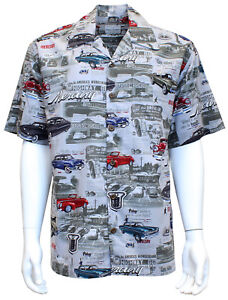 David Carey Vintage Ford Mercury and Comets Hawaiian Camp Club Shirt Button Down