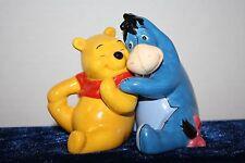 Walt Disney Winnie The Pooh & Eeyore Friends Salt & Pepper Shakers No Box SJ 17G