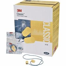 3M™ E-A-R Classic 311-1101 Yellow Flame Retardant Foam Corded Earplugs NRR 29
