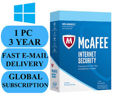 McAfee Internet Security 1 PC 3 YEAR (ACCOUNT SUBSCRIPTION) 2019 NO KEY CODE!!!