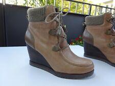 MARC O`POLO Damen Schuhe Plateau Keilabsatz Stiefeletten Leder Gr.37 Neuw