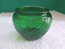 Vintage E.O. Brody & Co.  Emerald Green Swirled Vase - Cleveland, Ohio