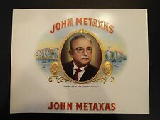 John Metaxas Cigar Box Label 1941