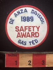 Vtg ROUGH 1989 Safety Award De Anza Division Gas T & D Patch C765
