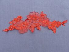 27cm by 8.5cm BEAUTIFUL RED FLOWERS APPLIQUE LACE TRIM