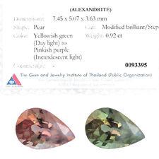 Fine ALEXANDRITE VS ~ 1 carat DISTINCT COLOR CHANGE Advanced GIT Lab Certificate