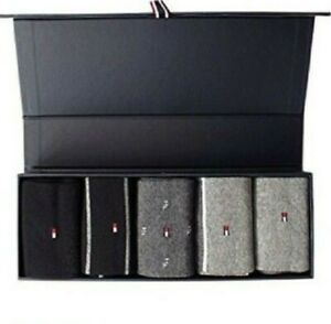 Tommy Hilfiger Socks 5 Pack With Gift Box Mixed Colour and Design Size 8 to 11