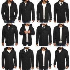 Abrigos y chaquetas de hombre negra de poliéster