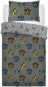 Harry Potters Crest Single Duvet Cover Hogwarts Reversible Bedding Set