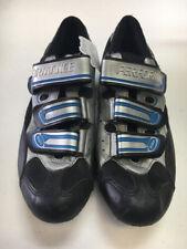 Performance Azzurri Black/Blue/Silver Mens 8-8.5 Used Biking Shoes