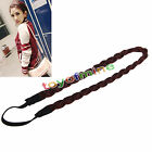 Synthetic Braided Braids Plaited Plait Elastic Hair Head Band Headband Hairband